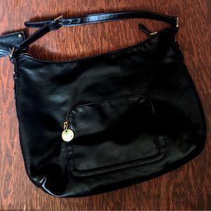 The Limited Patent Black Hobo Handbag
